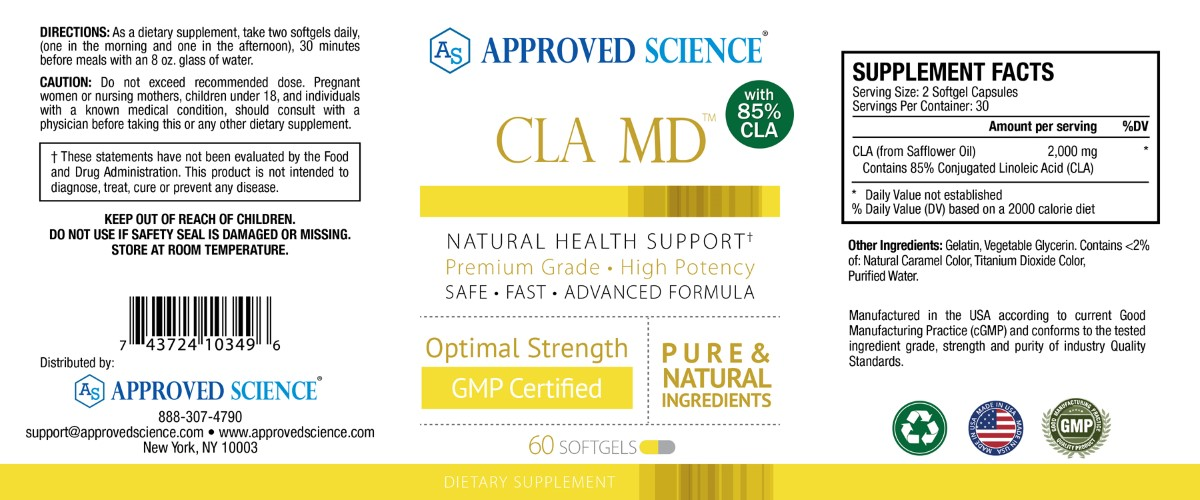 Cla md Supplement Facts